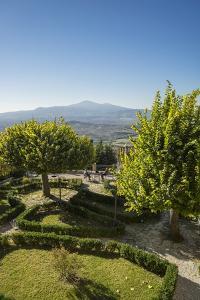 Pienza, the Garden of Hotel Il Chiostro and Monte Amiata in the Background by Guido Cozzi