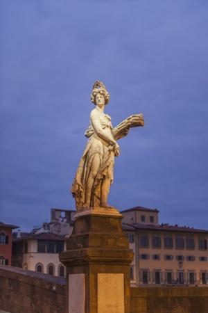 Statue on Ponte Santa Trinita by Guido Cozzi