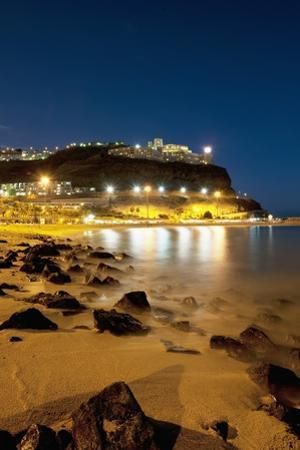 Town Lights at Night, Puerto Rico, Gran Canaria, Spain by Guido Cozzi