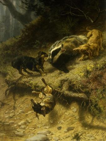 Dachshunds on a Badger by Guido Maffei