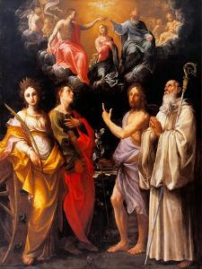 Coronation of the Virgin with Four Saints by Guido Reni