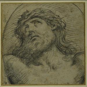 Head and Shoulders of the Living Christ Crucified by Guido Reni