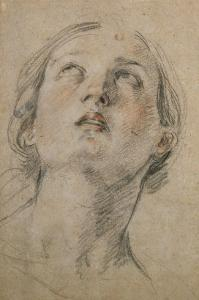 Head of a Woman Looking Up by Guido Reni