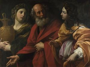 Lot and His Daughters Leaving Sodom, C. 1615 by Guido Reni