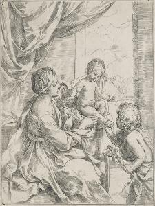 The Virgin, the Infant Jesus and Saint Jean-Baptiste by Guido Reni