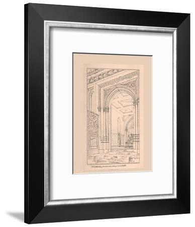 Guild Hall Entrance, 1815, (1886)-Robert Blemmell Schnebbelie-Framed Giclee Print