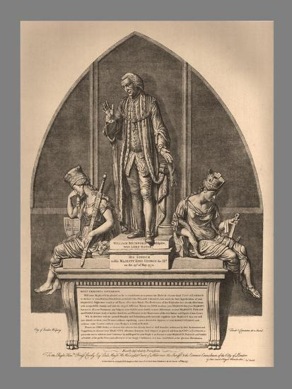 Guild Hall Monument to William Beckford, 1886-Unknown-Giclee Print