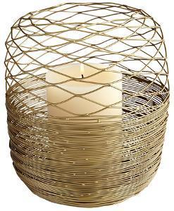 Guilded Silk Brass Candleholder