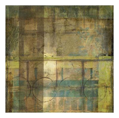 Guilded Turquoise I-Jennifer Goldberger-Art Print