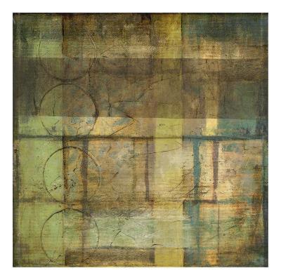 Guilded Turquoise II-Jennifer Goldberger-Art Print