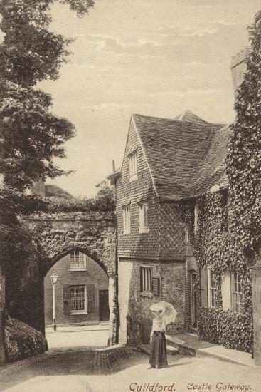 Guildford, Castle Gateway--Photographic Print