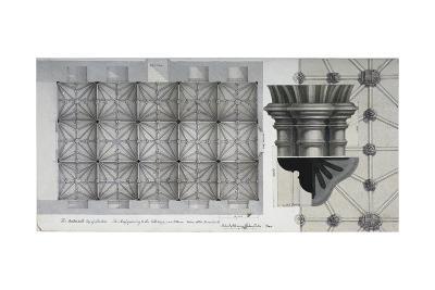 Guildhall Crypt, City of London, 1820-Robert Blemmell Schnebbelie-Giclee Print