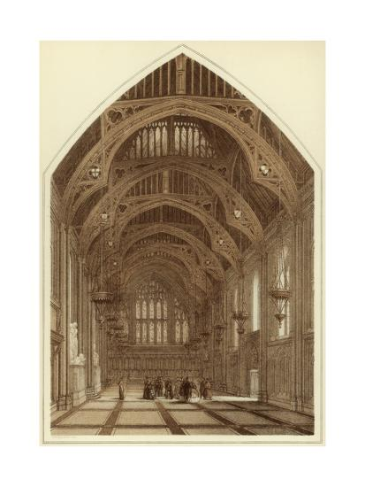 Guildhall Interior, City of London, 1886-William Griggs-Giclee Print
