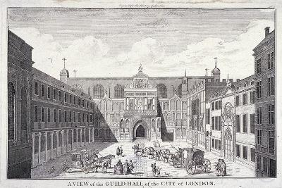 Guildhall, London, 1756--Giclee Print