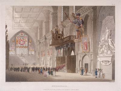 Guildhall, London, 1808-Augustus Charles Pugin-Giclee Print