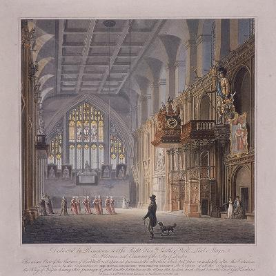 Guildhall, London, 1816-George Hawkins-Giclee Print
