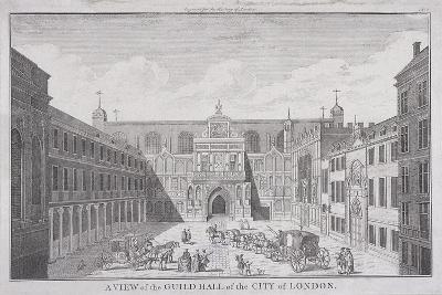 Guildhall, London, 1820-James B Allen-Giclee Print