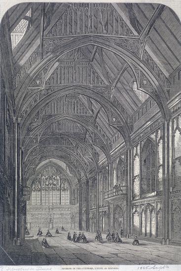 Guildhall, London, 1865-E Pocock-Giclee Print
