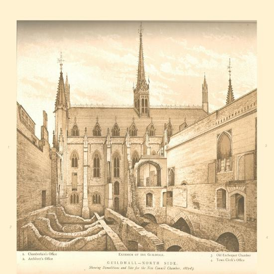 Guildhall North Side, 1882-83, (1886)-Unknown-Giclee Print