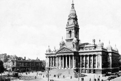 Guildhall, Portsmouth, Hampshire, Early 20th Century--Giclee Print