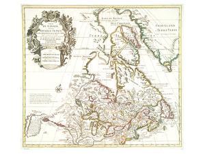 Carte Du Canada 1703 by Guillaume De Isle