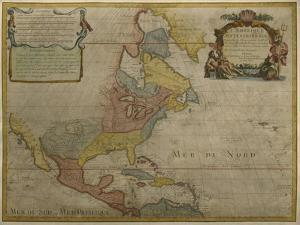 Map of Central and North America, Published in 1700, Paris by Guillaume Delisle