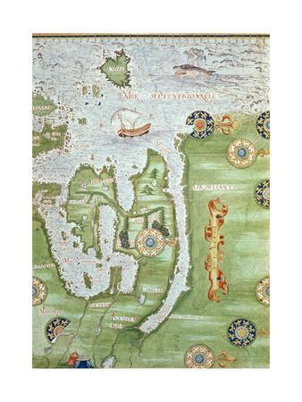 Fol.10V Map of Scandinavia and Northern Russia, from 'Cosmographie Universelle', 1555