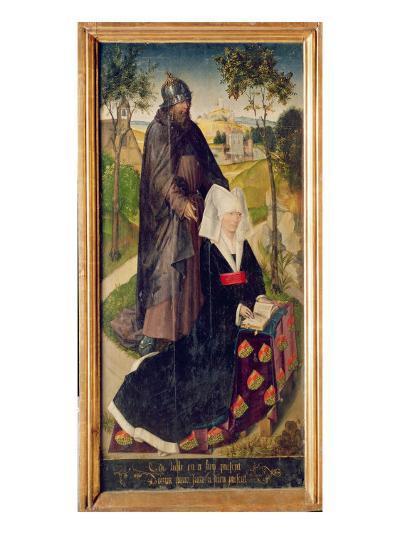 Guillemette De Montagu with Saint Guillaume, 1460-66-Rogier van der Weyden-Giclee Print