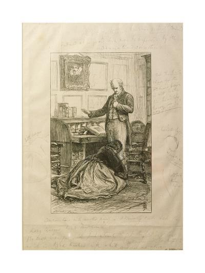 Guilty', Proof of an Illustration to Vol. II of 'Orley Farm' by Anthony Trollope-John Everett Millais-Giclee Print