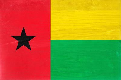 Guinea-Bissau Flag Design with Wood Patterning - Flags of the World Series-Philippe Hugonnard-Art Print