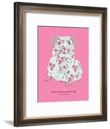 Guinea Pig - WWF Contemporary Animals and Wildlife Print-WWF-Framed Art Print