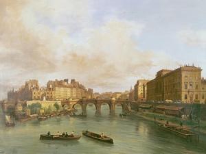 The Pont Neuf, Ile De La Cite, Paris Mint and Conti Quay, 1832 by Guiseppe Canella