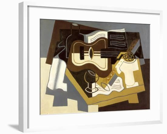 Guitar and Clarinet, 1920-Juan Gris-Framed Giclee Print