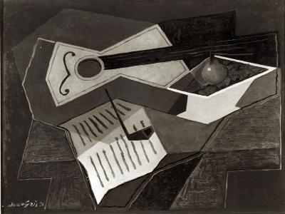 Guitar and Fruit Bowl, 1926-Juan Gris-Giclee Print