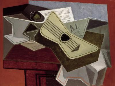 Guitar and Newspaper, 1925-Juan Gris-Giclee Print