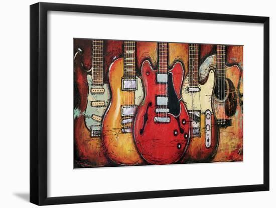 Guitar Collage-Bruce Langton-Framed Art Print