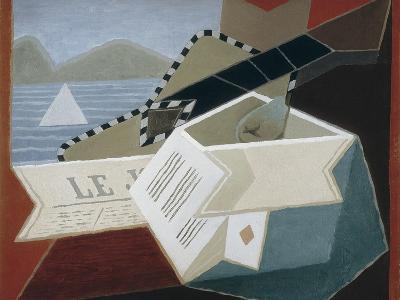 Guitar Facing the Sea-Juan Gris-Art Print