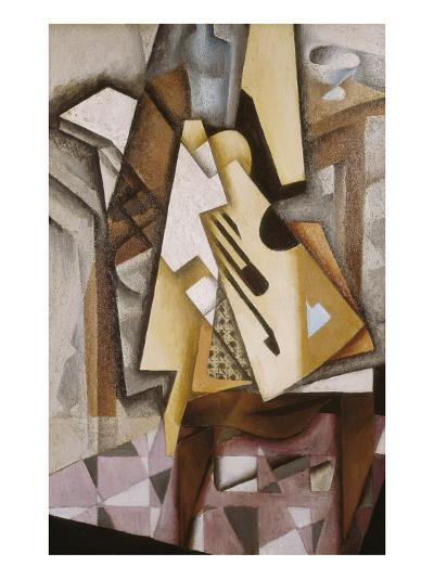 Guitar on a Chair-Juan Gris-Art Print