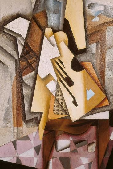 Guitar on a Chair-Juan Gris-Giclee Print