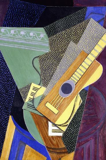 Guitar on a Table; Guitare Sur Une Table, 1916-Juan Gris-Giclee Print
