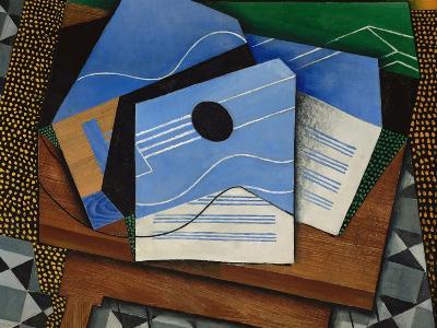 Guitar on a Table-Juan Gris-Giclee Print