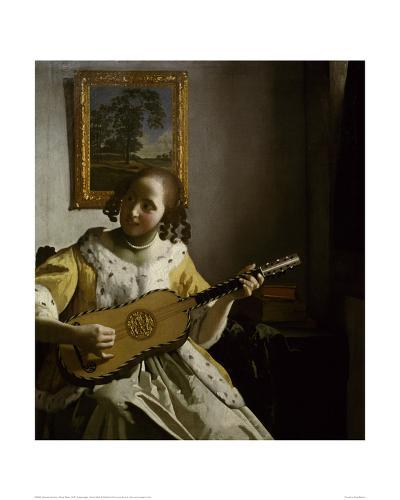 Guitar Player-Johannes Vermeer-Giclee Print