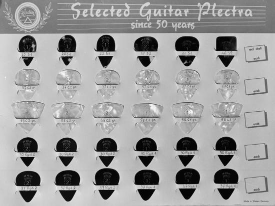 Guitar Plectrums, Produced by the Casale Bauer Musical Instrument Company of Bologna-A^ Villani-Giclee Print