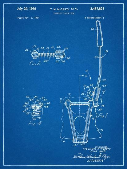 Guitar Vibrato, Wammy Bar Patent--Art Print