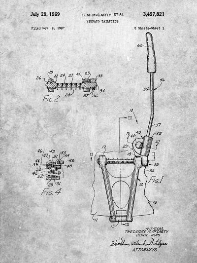 Guitar Vibrato, Wammy Bar Patent-Cole Borders-Art Print