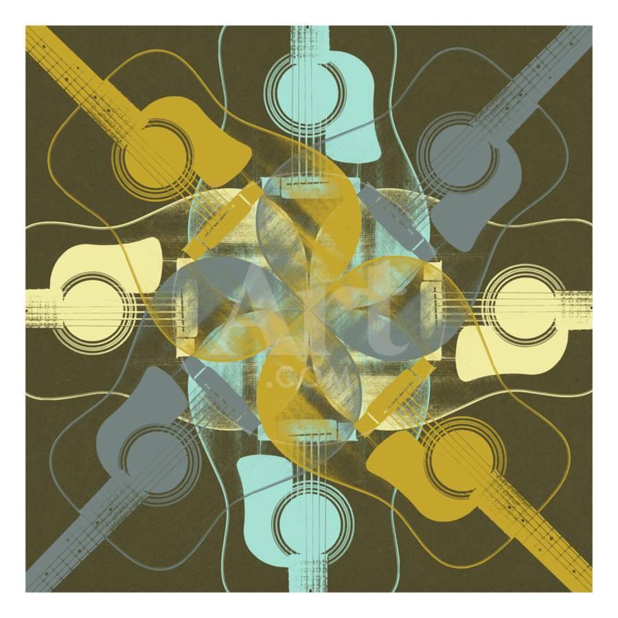 Guitars 8 Premium Giclee Print by Stella Bradley | Art.com