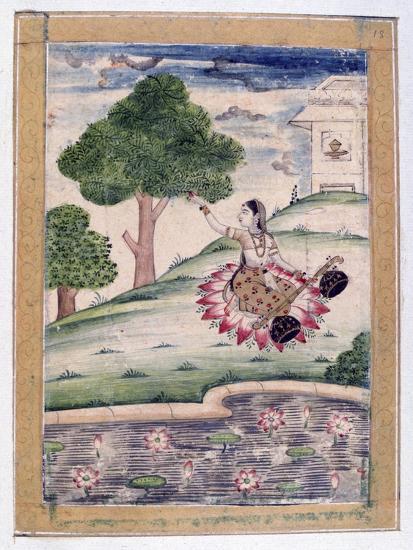 Gujari Ragini, Ragamala Album, School of Rajasthan, 19th Century--Giclee Print