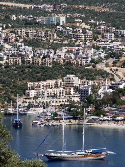 Gulet Anchored at Kalkan, a Popular Tourist Resort, Antalya Province, Anatolia, Turkey--Photographic Print