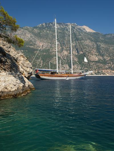Gulet Cruise, Olu Deniz, Near Fethiye, Aegean, Anatolia, Turkey, Asia Minor, Eurasia-Stuart Black-Photographic Print