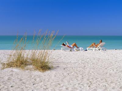 Gulf Coast Beach, Anna Maria Island, North of Longboat Key, Florida, USA-Fraser Hall-Photographic Print